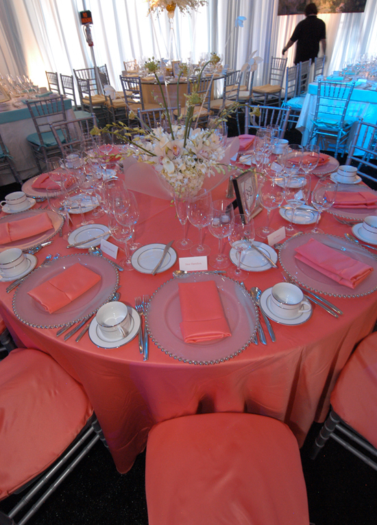 Coral lamour napkins for Table coral sample
