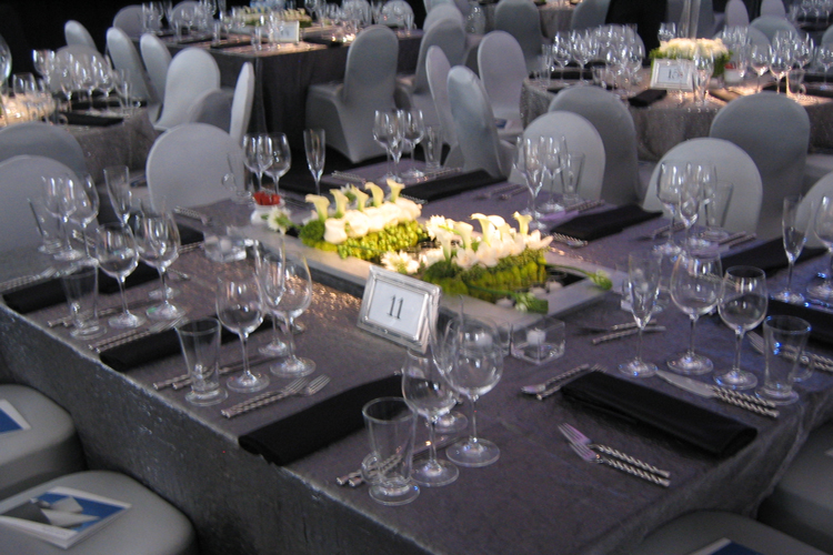 Charcoal Crushed Shimmer Table Linen