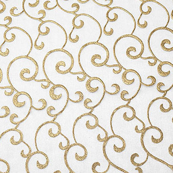 Gold And White Scroll Sheer Cloth Connection