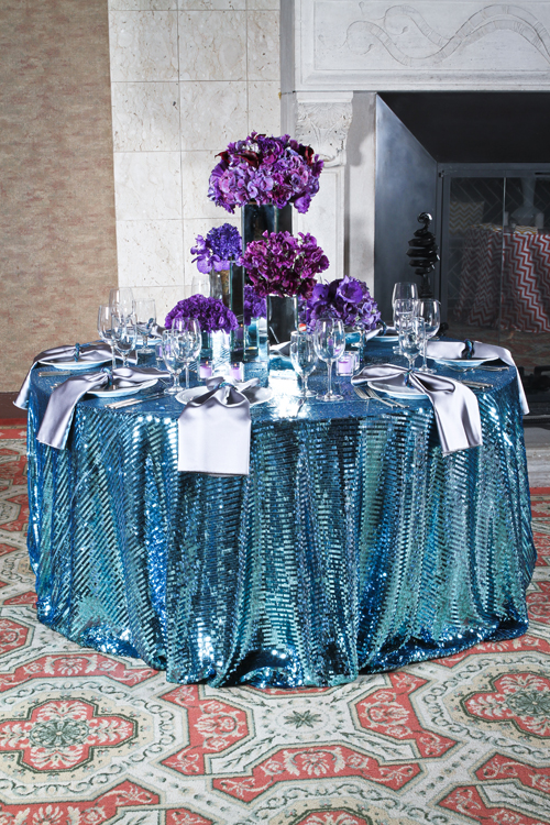 Turquoise Piano Sequin Cloth Connection