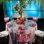 Pink Rose Floral Bouquet Chair Cap