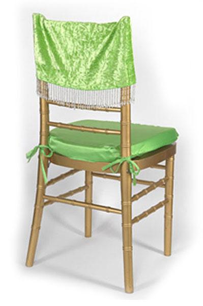 Apple Crushed Velvet Chair Cap