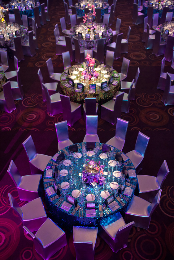 Turquoise Disco Paylette Disc Table Linen Rental Tablecloth