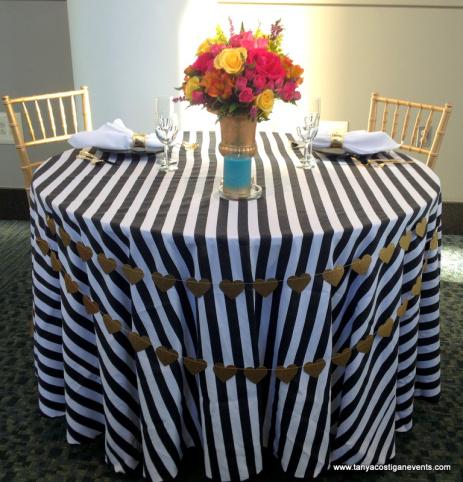 Black Amp White Stripe Table Linen Rental Tablecloth