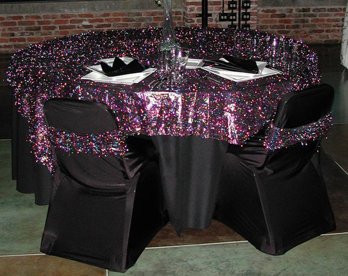 Black Lamour Table Linen Rental Tablecloth Cloth Connection