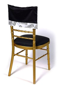 Black Lamour Musical Notes Chair Cap