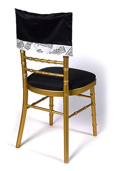 Black Lamour Musical Notes Chair Cap