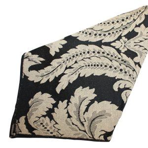 Black Taupe Damask Napkin