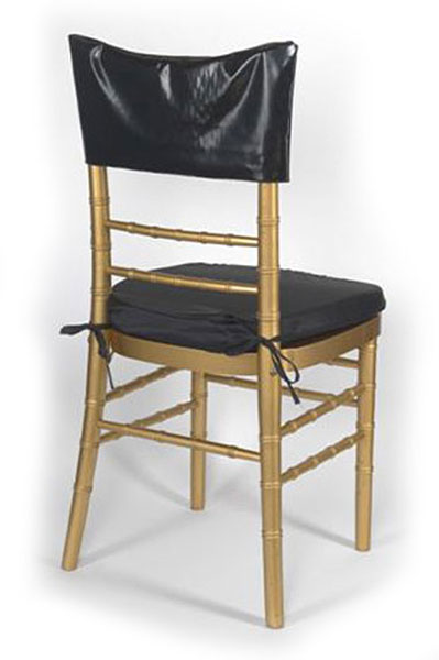 Black Vinyl Chair Cap