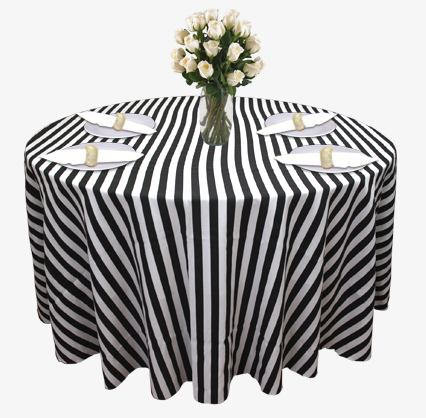 Linen Rentals Stripe 2 Stripe 1 Black White ...