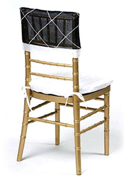 Black with White Diamonds Chair Cap