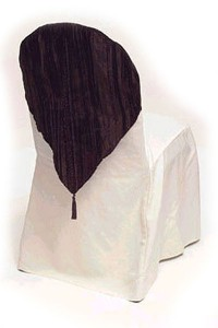 Brown Crushed Velvet Hood Chair Cap