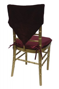 Burgundy Velvet with Gold Tassel Chair Cap