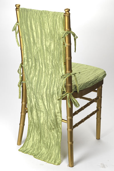 Celadon Crinkle Taffeta Chair Back