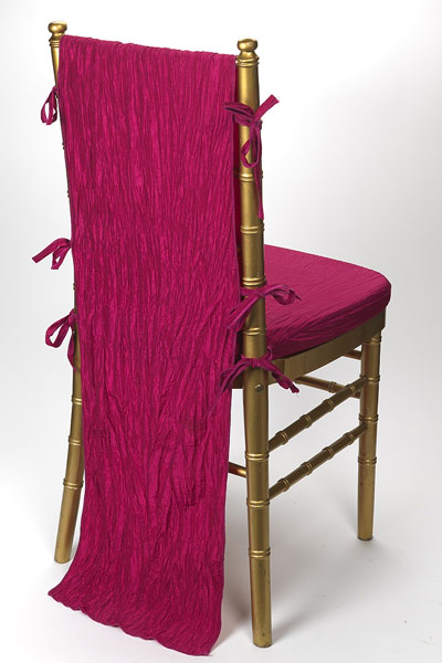 Fuchsia Crinkle Taffeta Chair Back