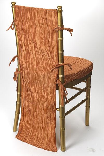 Ginger Crinkle Taffeta Chair Back