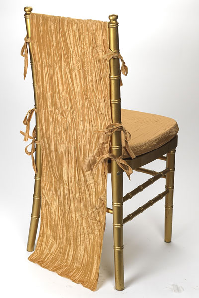 Gold Crinkle Taffeta Chair Back