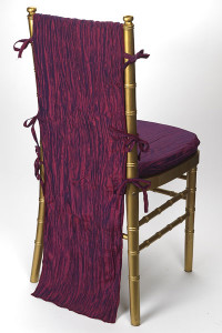 Magenta Crinkle Taffeta Chair Back