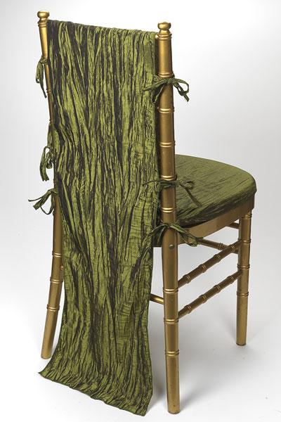 Moss Crinkle Taffeta Chair Back