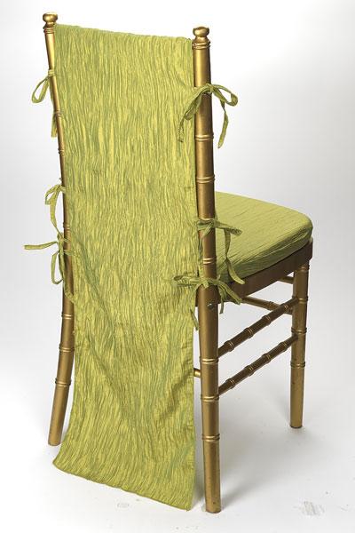 Pistachio Crinkle Taffeta Chair Back