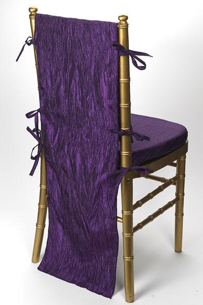 Plum Crinkle Taffeta Chair Back