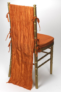 Pumpkin Crinkle Taffeta Chair Back