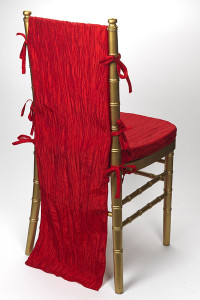 Ruby Red Crinkle Taffeta Chair Back