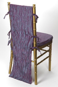 Steel Passion Berry Crinkle Taffeta Chair Back