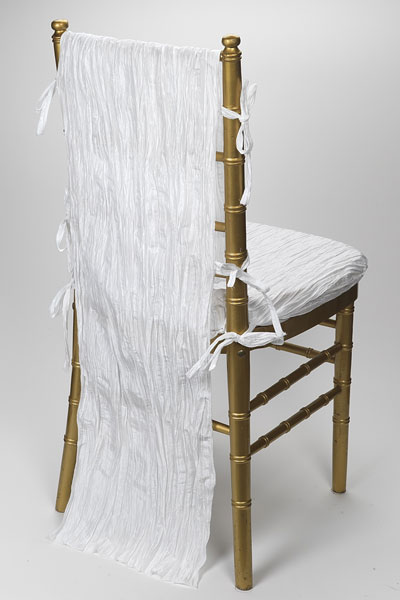 White Crinkle Taffeta Chair Back