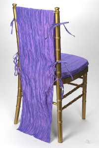 Wysteria Crinkle Taffeta Chair Back