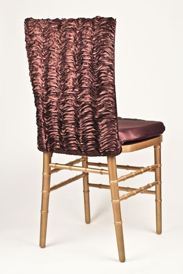 Copper Ruffle Taffeta Chair Back