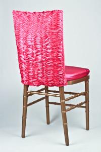 Fuchsia Ruffle Taffeta Chair Back