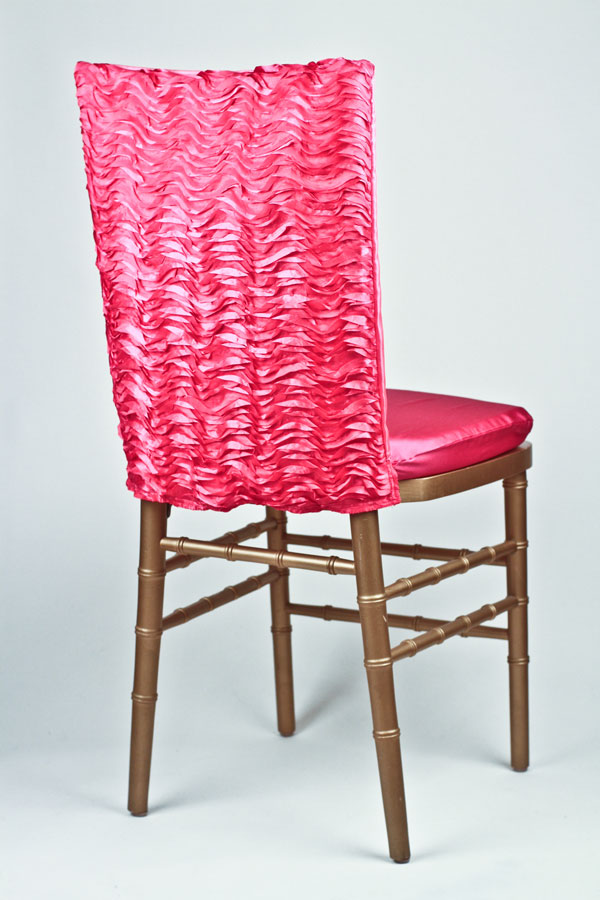 Fuchsia Ruffle Taffeta Chair Back