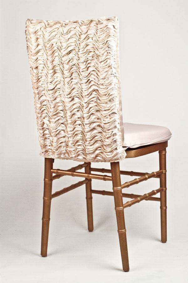 Ivory Ruffle Taffeta Chair Back