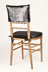 Black Piano Sequin Chair Cap