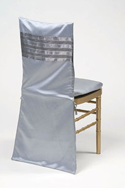 Pewter Ribbed Chair Back