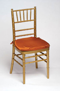 Apricot Iridescent Taffeta Chair Pad Cover