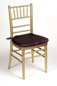 Aubergine Lamour Chair Pad Cover