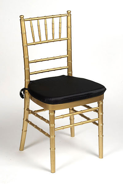 Black Lamour Chair Pad Cover