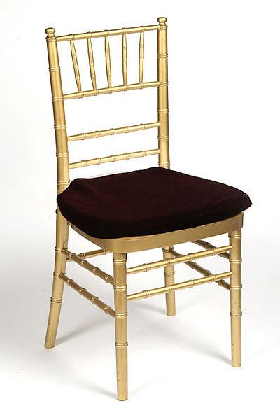 Brown Velvet Chair Pad Cover