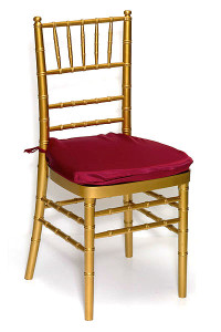 Burgundy Lamour Chair Pad Cover