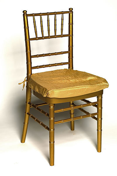 Gold Crushed Shimmer Chair Pad Cover