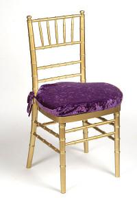 Grape Plush Velvet Chair Pad Cover