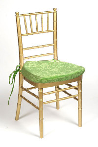 Lime Plush Velvet Chair Pad Cover