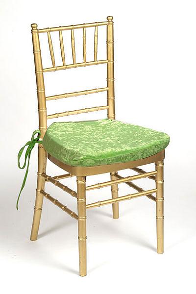 Lime Plush Velvet Chair Pad Cover