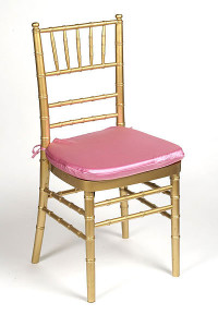 Dusty Rose Lamour Chair Pad Cover