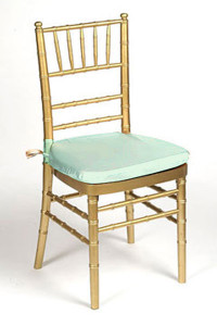 Mint Lamour Chair Pad Cover