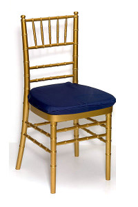 Navy Lamour Chair Pad Cover