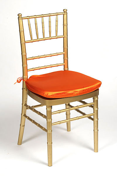 Orange Lamour Chair Pad Cover