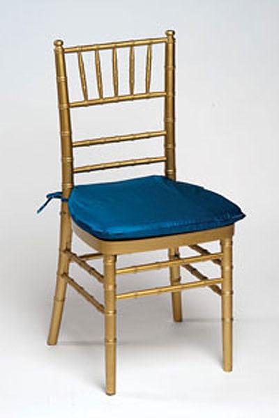 Peacock Iridescent Taffeta Chair Pad Cover